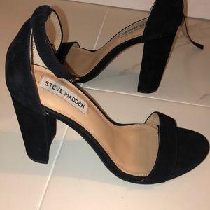 Steve Madden Carrson Black Suede Heels